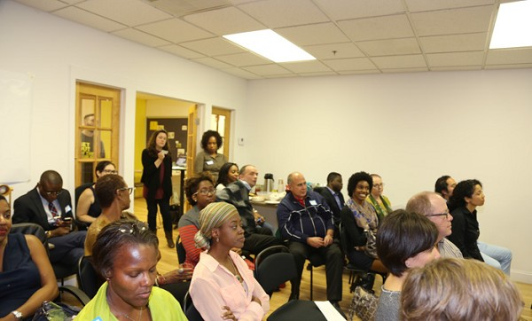 Photo: The crowd learning about Lean in Jersey City. Photo Credit: Linda Pace / Pacesetter Photography
