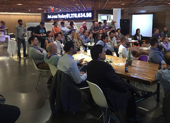 Photo: A packed house at the Mobile Dev NJ meetup at Jet. Photo Credit: Alex Zaltsman