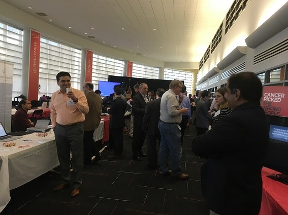 Photo: Networking at the Healthcare Cluster Innovation Showcase at NJIT Photo Credit: Esther Surden