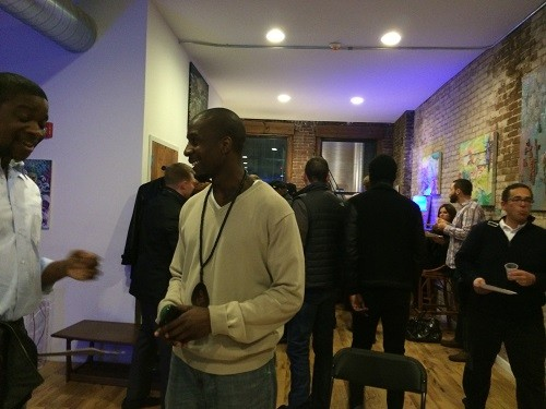 Photo: Friday night networking at Lean Newark. Photo Credit: Esther Surden