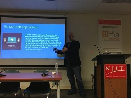 Photo: Nick Landry discussed entrepreneurship at LaunchNJ Photo Credit: Esther Surden