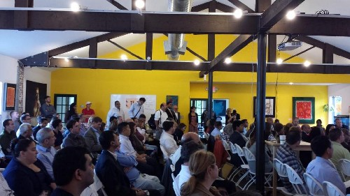 Photo: Packed house at Tigerlabs pitch-off. Photo Credit: Feliciano Center at Montclair State