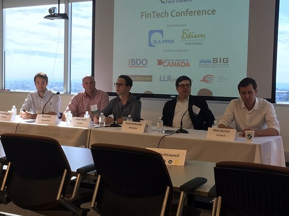 Photo: Online lending panel at the New Jersey Tech Council's Fintech event Photo Credit: Marc Weinstein