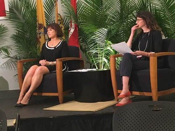 Photo: Panelist Lauren C. Anderson with Mollie Ruskin Photo Credit: Esther Surden