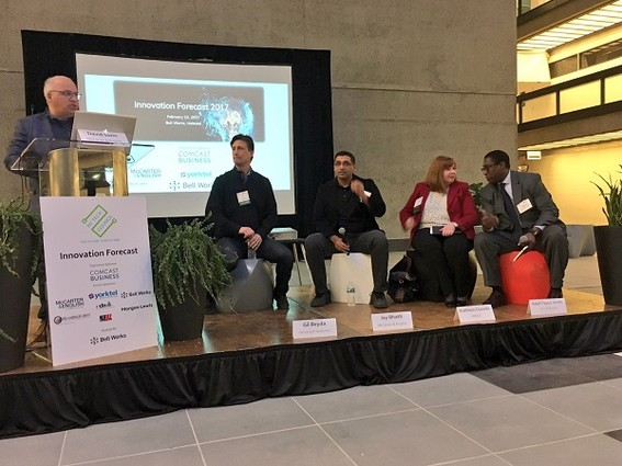 Photo: Panel on funding at NJ Tech Council's Innovation Forecast event at Bell Works Photo Credit: Esther Surden
