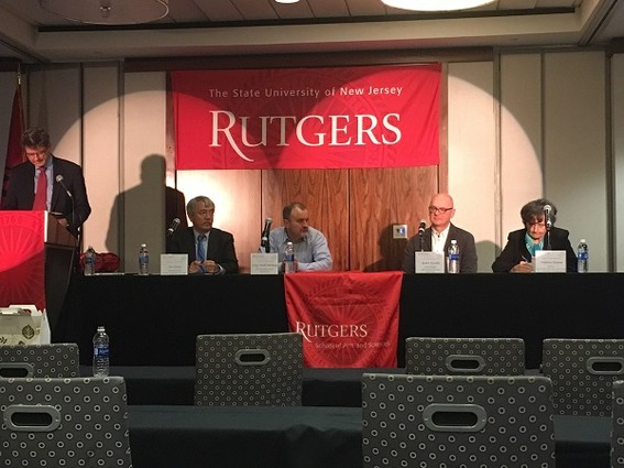 Photo: Panelists talk about ideas that could help shape Rutgers CS program in the future. Photo Credit: Esther Surden