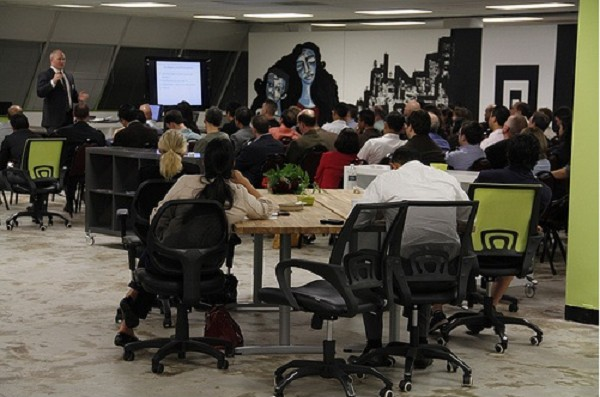Photo: JuiceTank held many meetings for entrepreneurs and startups during its five years. Photo Credit: Courtesy JuiceTank