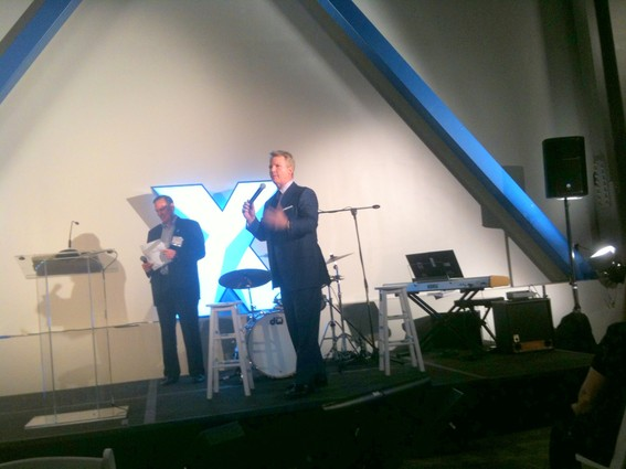 Photo: Phil Simms spoke at the Telx NJR3 grand opening. Photo Credit: Esther Surden