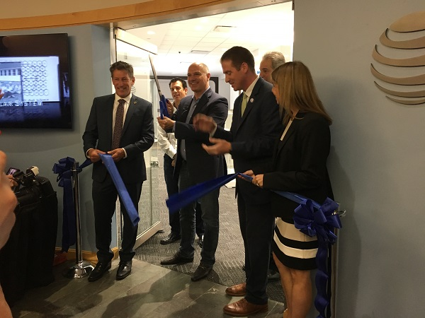 AT&T ribbon cutting photo
