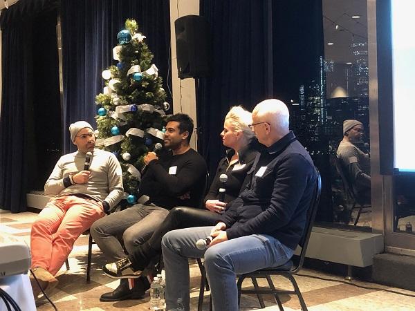 Panelists at the NJ Tech Meetup on Shark Tank survivors