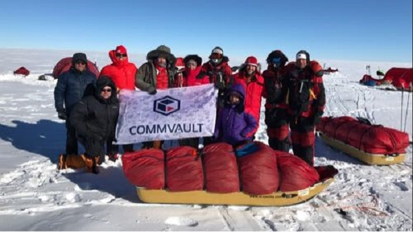 Photo of team in Antarctica