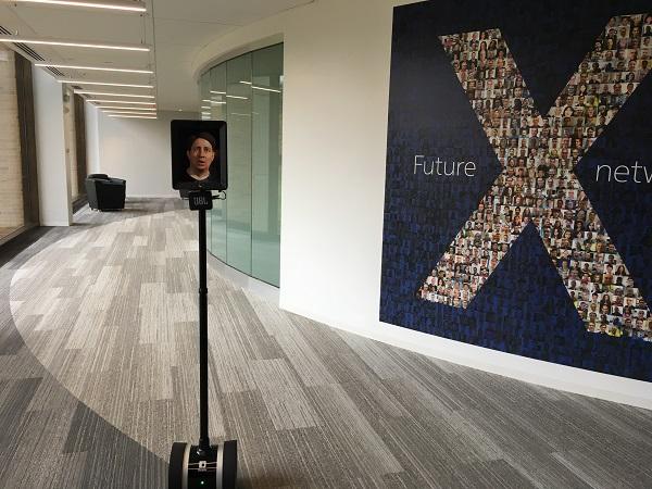 Marcus Weldon's image on telepresence robot.