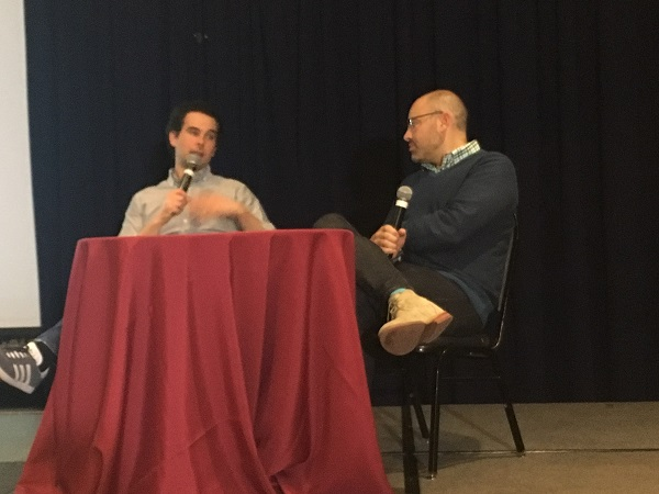 Peter Gorenstein(L) and Aaron Price (R) at NJ Tech Meetup in March