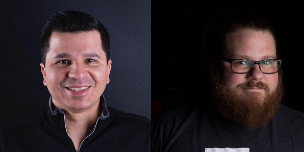 Headshots of Wallace Santos and Ron Reed of Maingear