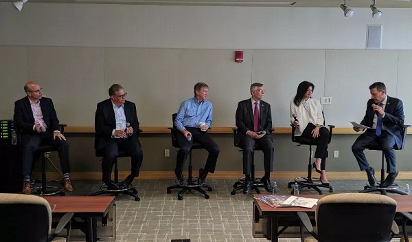 panel at innovation economy event June 2019