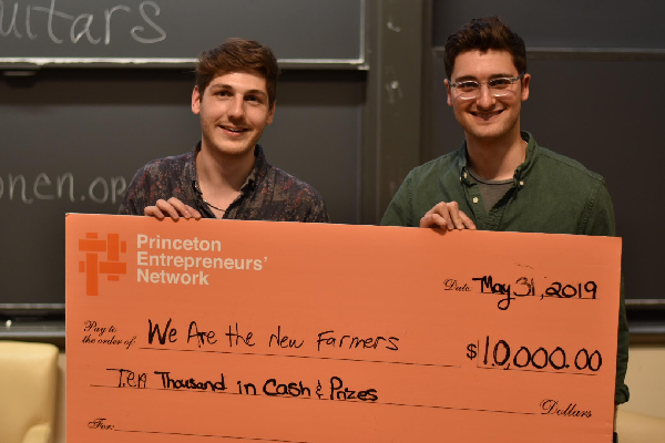Princeton Entrepreneurs' Network 2019 winners We Are the New Farmers