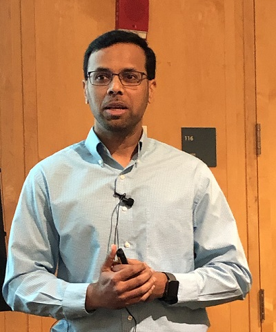 Ibraham Mohammed at the Princeton Tech Meetup