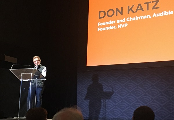 Don Katz speaking at Demo DAy