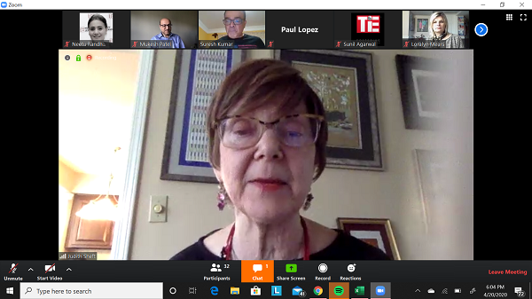 Judith Sheft at TiE virtual event