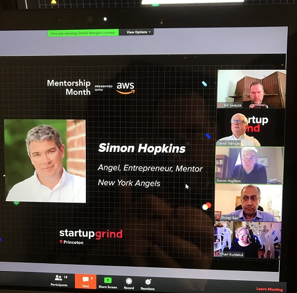 Simon Hopkins at Startup Grind Princeton