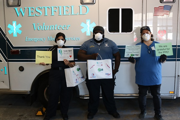 Ferreira Foundation sent PPE to many ambulance services in New Jersey | Courtesy Ferreira Foundation