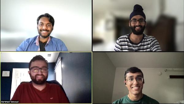 Varun Kota, Akash Ranhawa, Hammad Farooqui and Manu Sankaran of Smart MS3